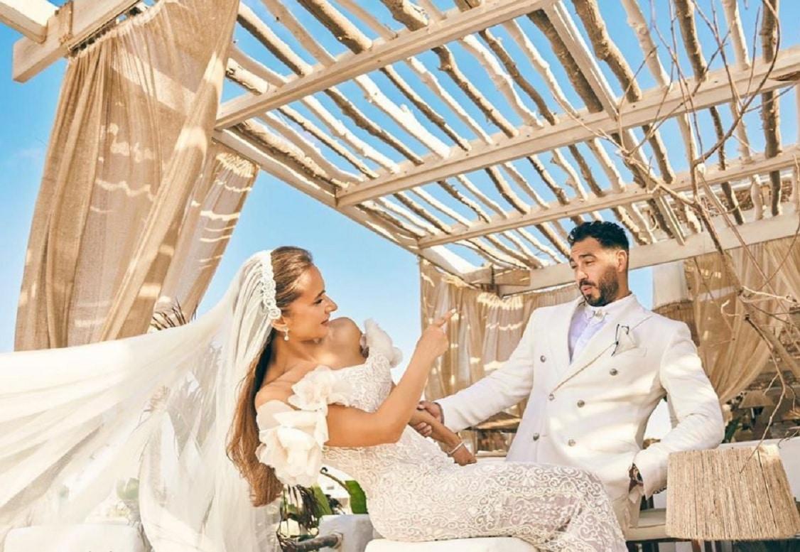 نيللي كريم احتفلت بزفافها على هشام عاشور بحضور نجوم الفن