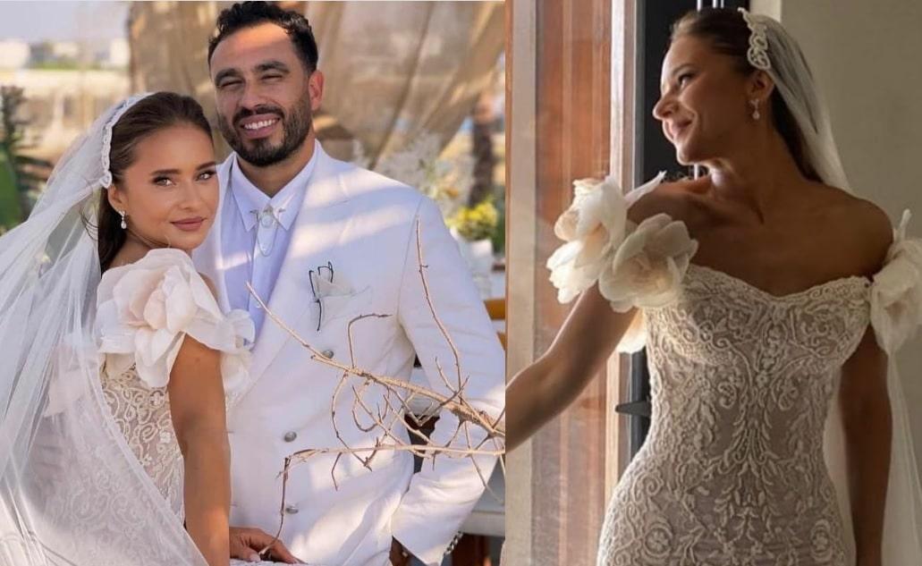 سعر فستان زفاف نيللي كريم مكشوف الصدر يثير الجدل (شاهد)