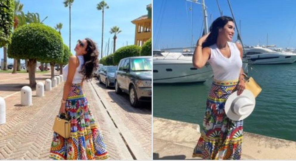 ياسمين صبري في موقف مُحرج بسبب ملابسها وسعر تنورتها خرافي!