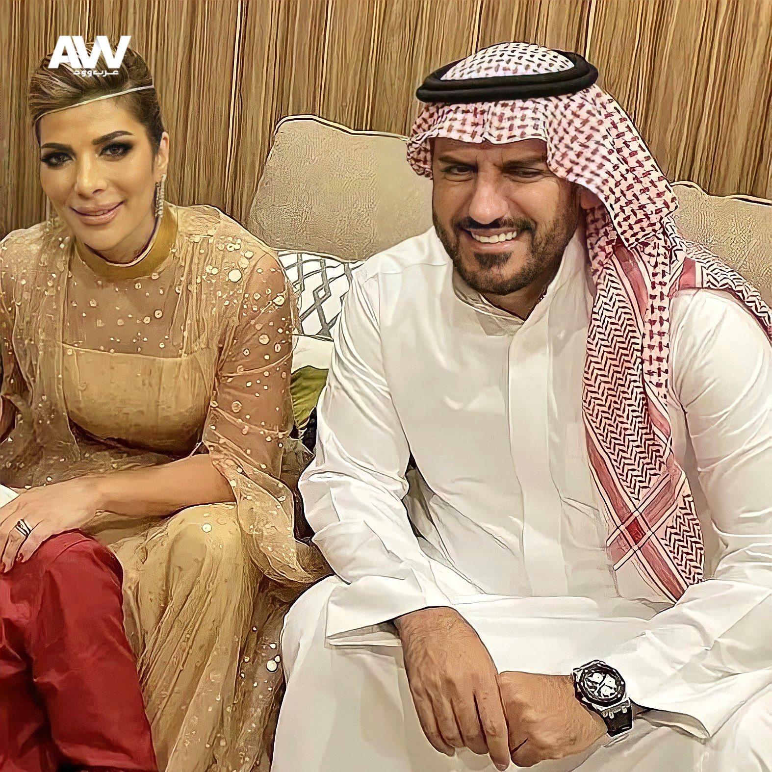 أصالة مع زوجها الجديد فائق حسن بعد عقد قرانهما