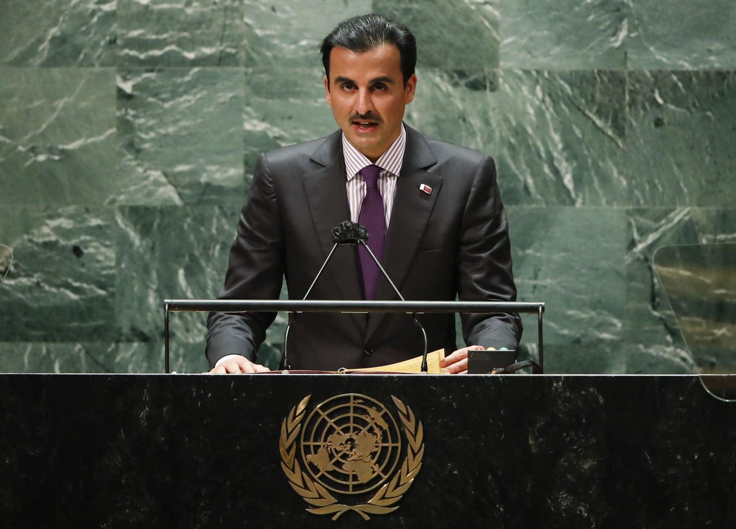 أمير قطر يتحدث في الأمم المتحدة عن المصالحة مع السعودية والإمارات ومصر (شاهد)