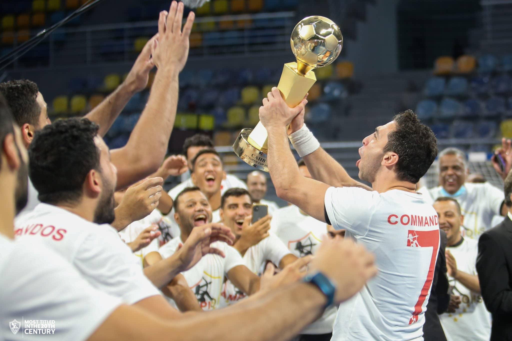 الزمالك لكرة اليد يتوج بلقب كأس السوبر الأفريقي بعد الفوز على الأهلي
