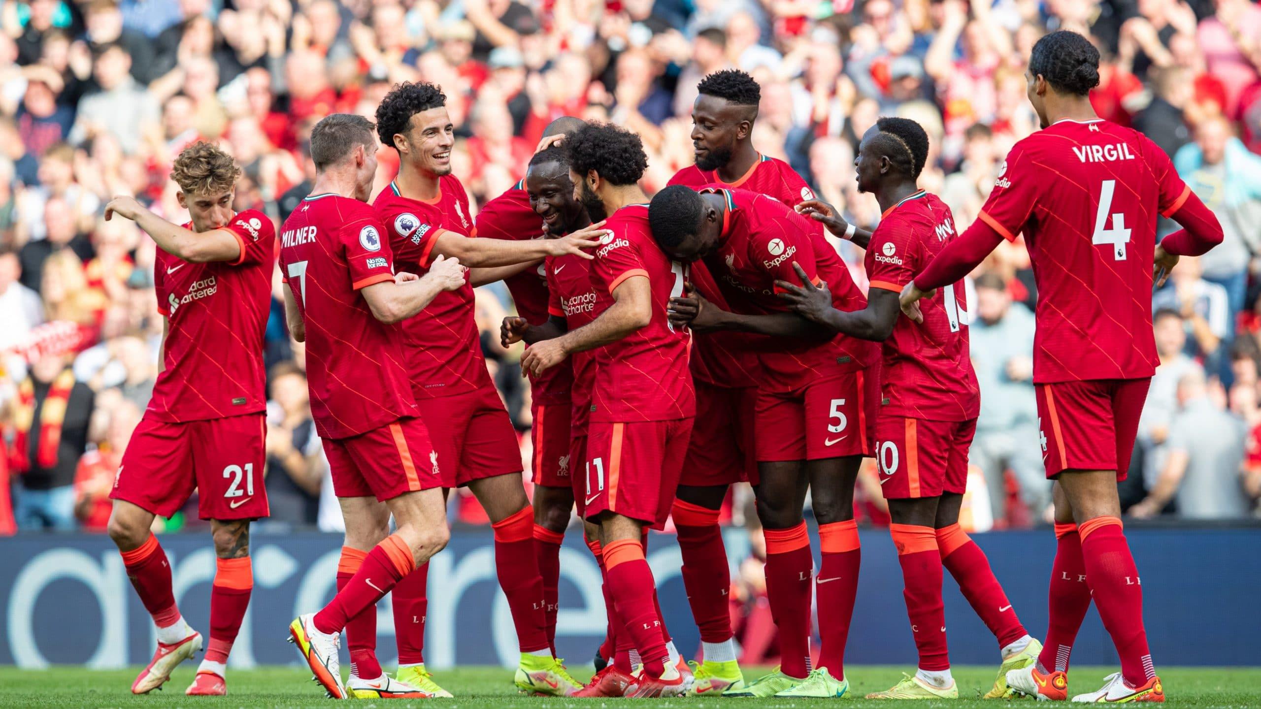 مباراة فريق ليفربول وكريستال بالاس في الدوري الإنجليزي