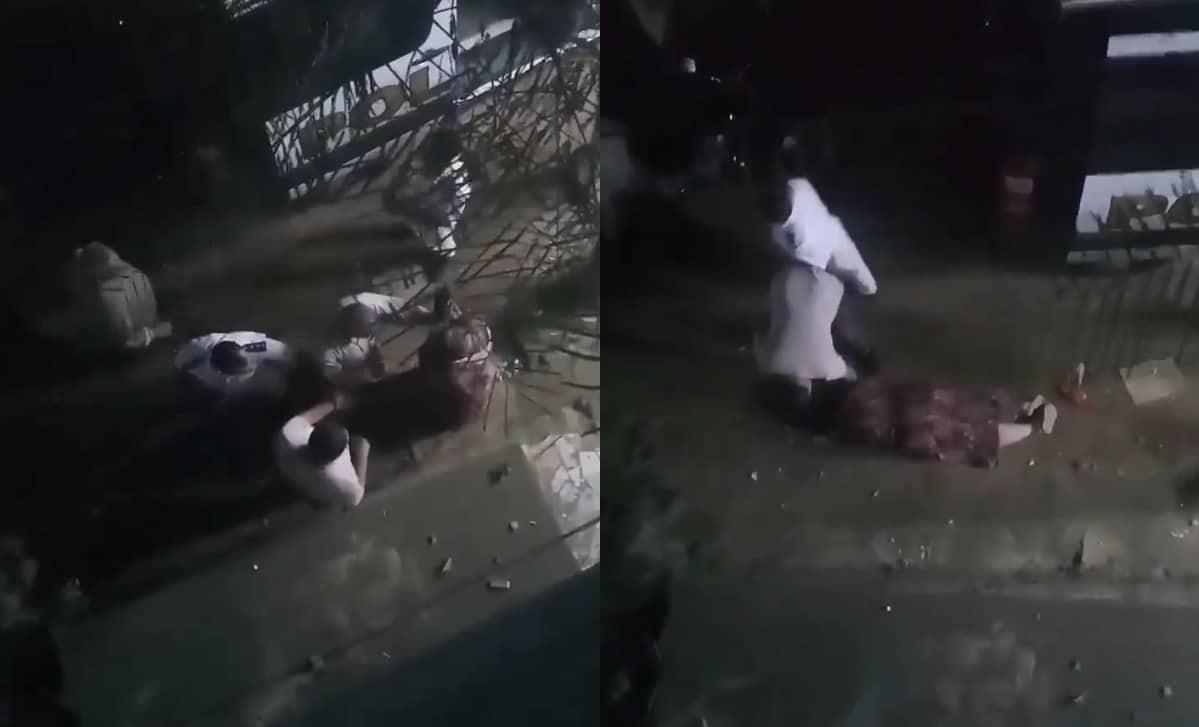 اعتداء و سحل سيدة أمام الشرطة المصرية