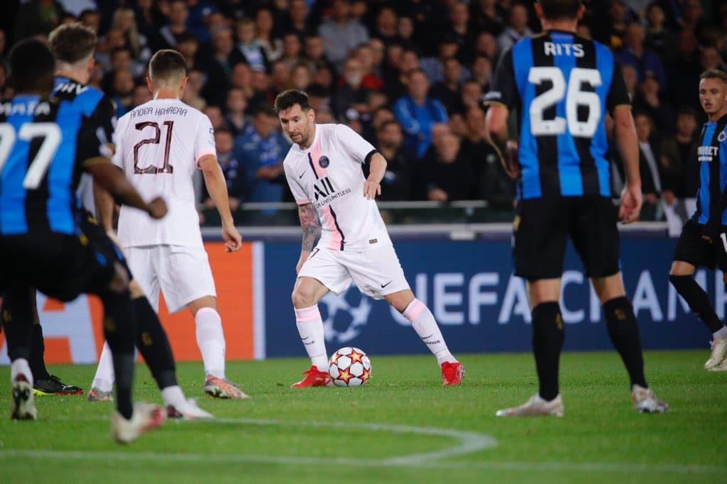مباراة باريس سان جيرمان وكلوب بروج في دوري أبطال أوروبا