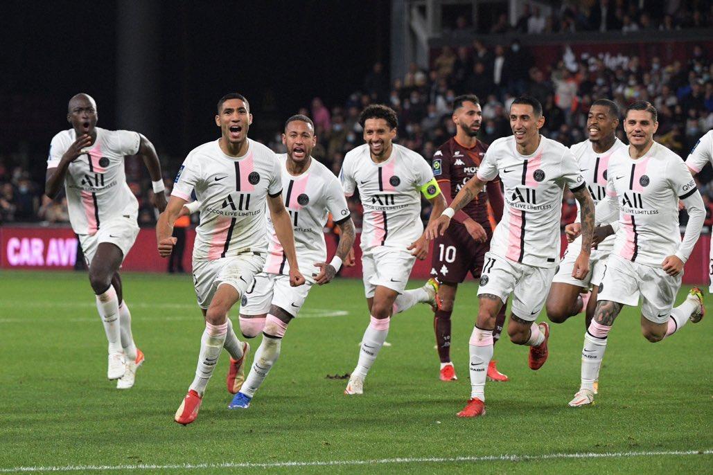 ترتيب الدوري الفرنسي بعد فوز باريس سان جيرمان على ميتز