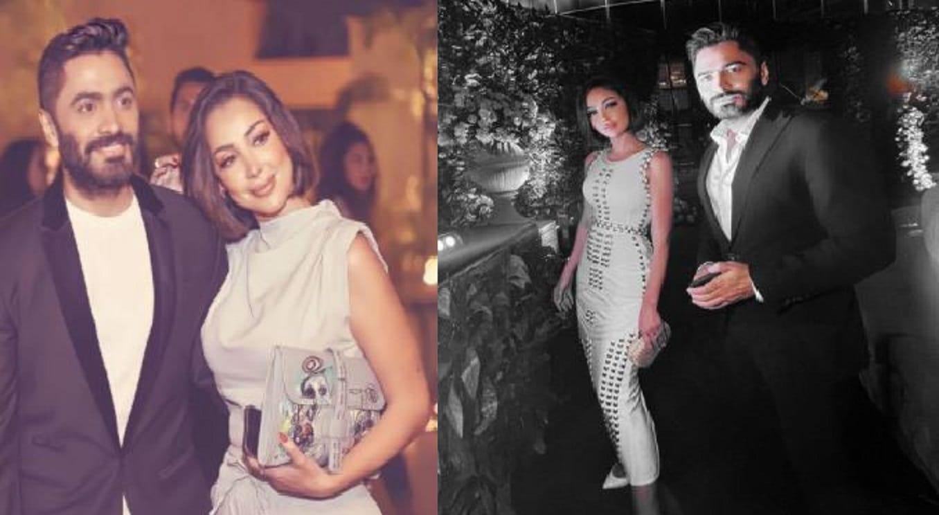 أول ظهور لتامر حسني وبسمة بوسيل بعد شائعة انفصالهما