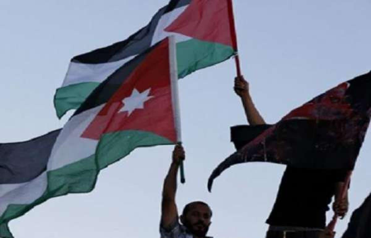 خريطة فلسطين محذوفة من كتاب أردني
