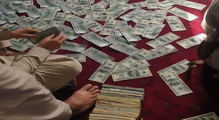 دولارات وسبائك ذهبية في أفغانستان