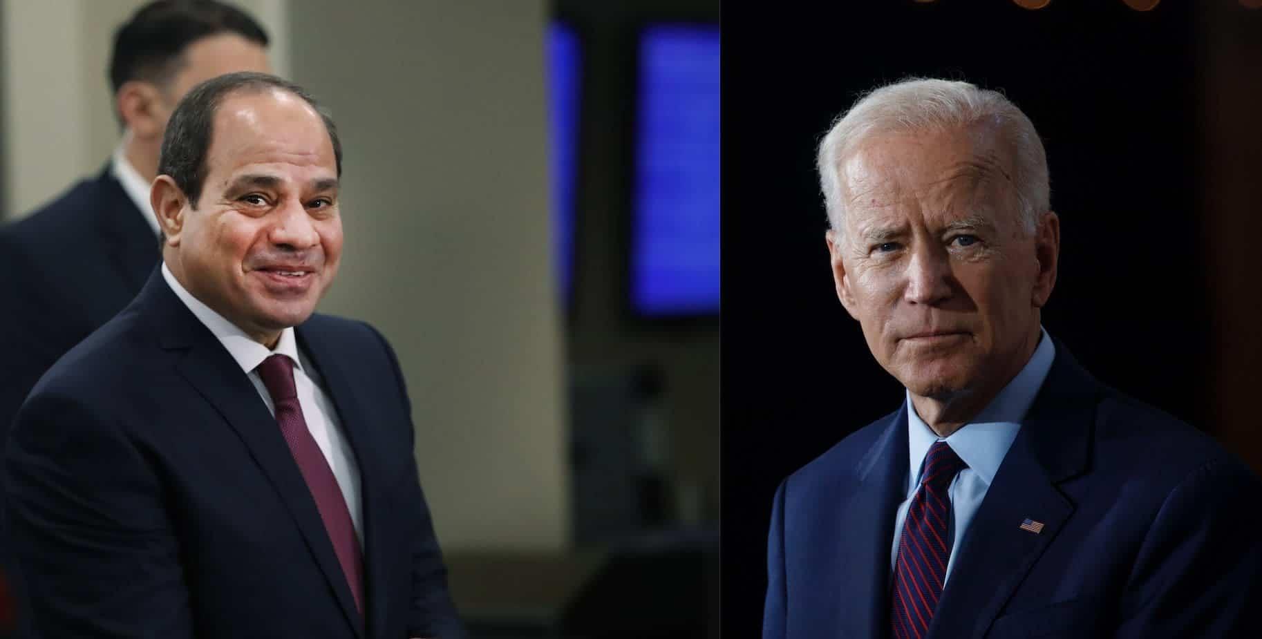 رئيس مصر عبدالفتاح السيسي والرئيس الأمريكي جو بايدن