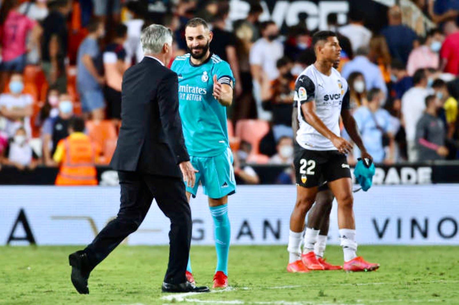بنزيما وقيادة فريق ريال مدريد بالفوز على منافسه فالنسيا في الدوري الإسباني