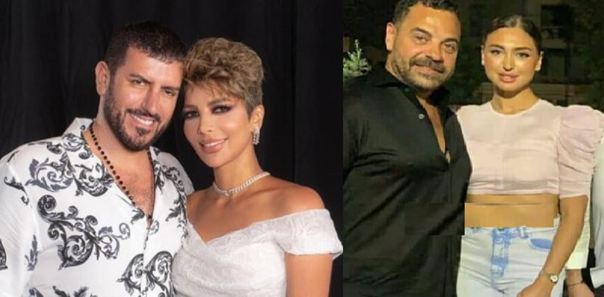 نيكول سعفان تحتفل بعيد ميلاد طارق العريان