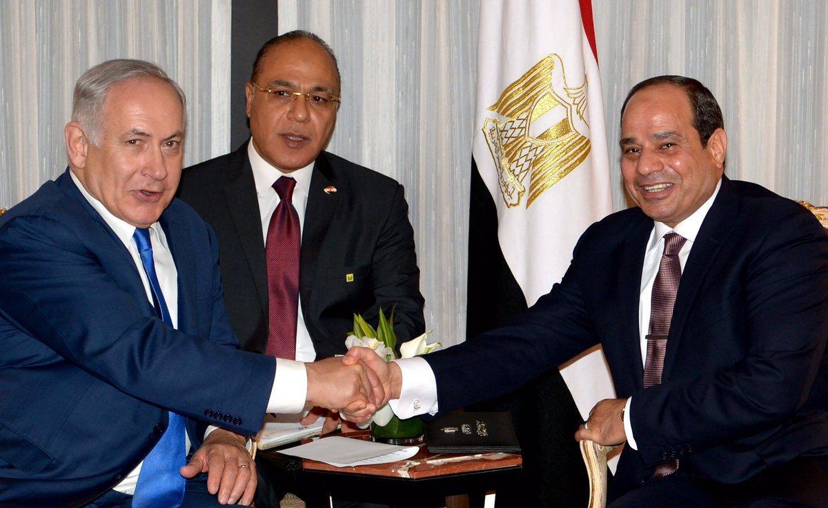 عبدالفتاح السيسي وبنيامين نتنياهو
