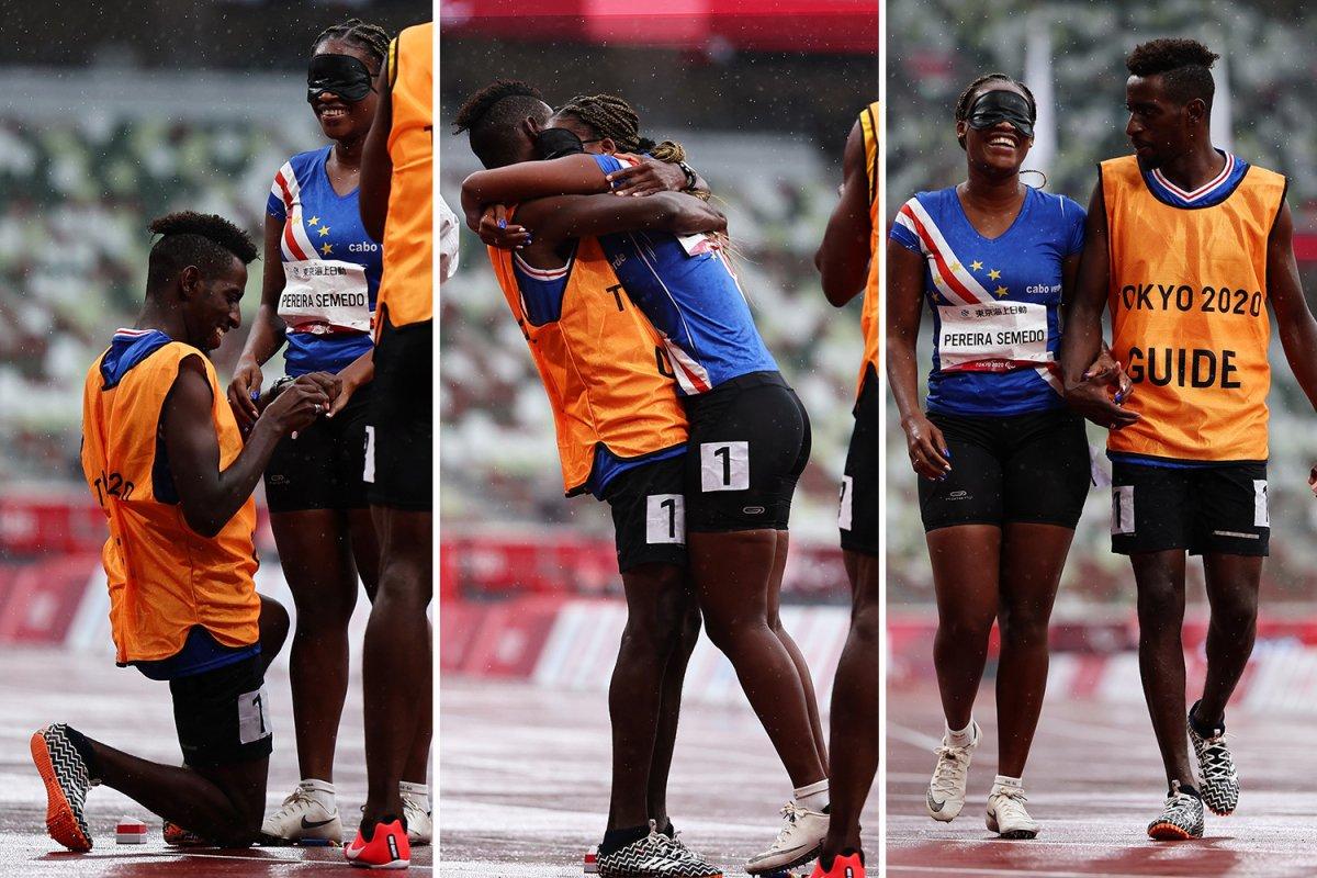 عداءة بارالمبية تنهي سباقها بلحظة رومانسية رغم خسارتها في دورة الألعاب البارالمبية