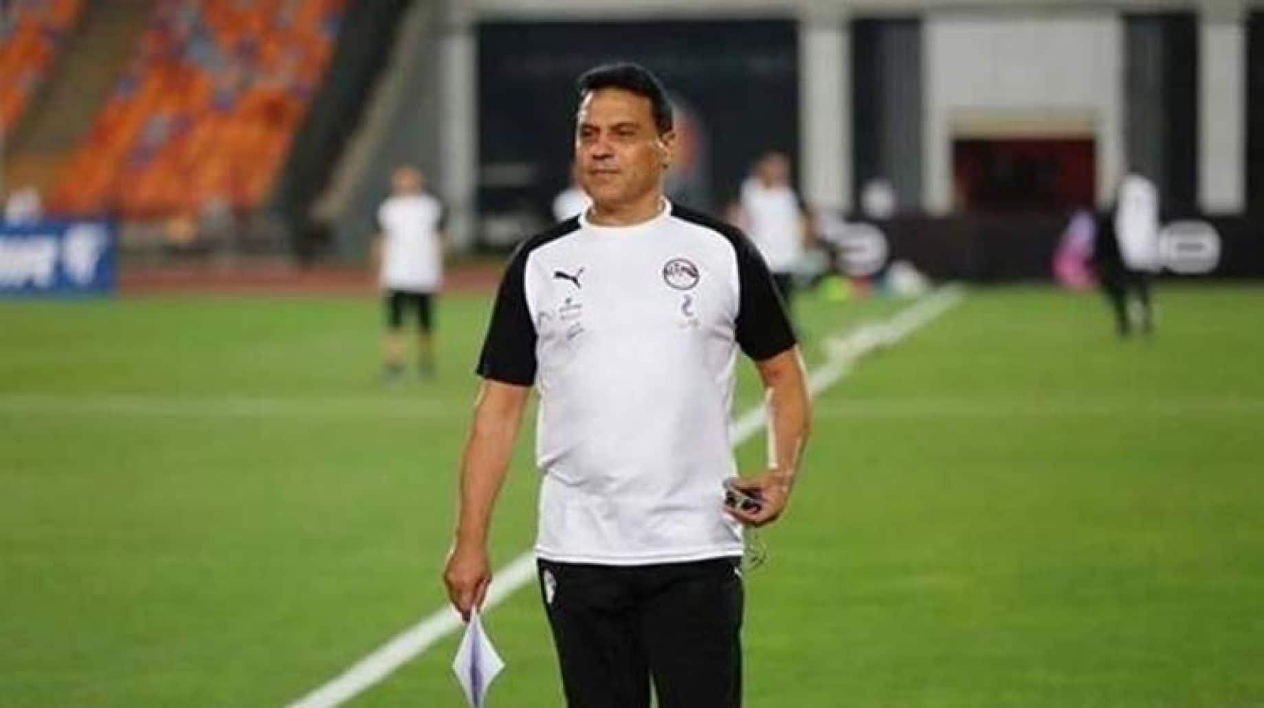 مدرب منتخب مصر حسام البدري والحديث عن مشاركة الثنائي صلاح والنني