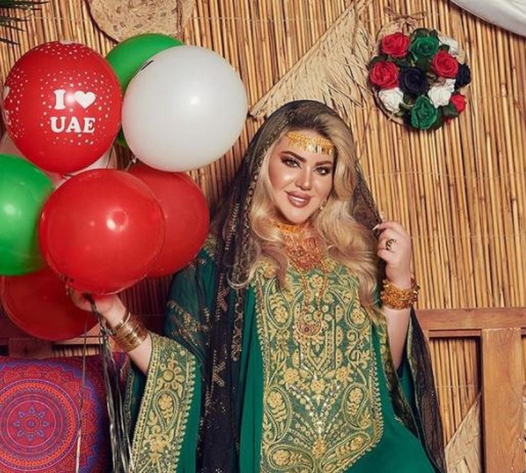 مروة راتب تحتفل باليوم الوطني السعودي