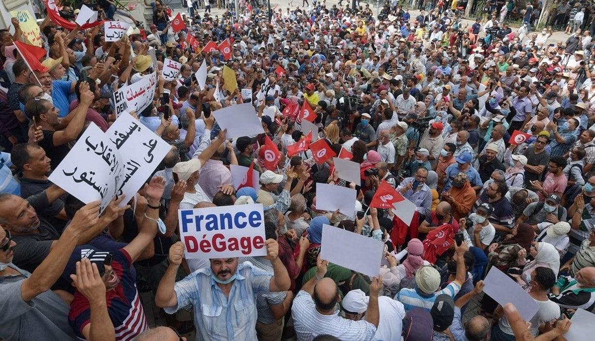 مظاهرات ضد الانقلاب في تونس