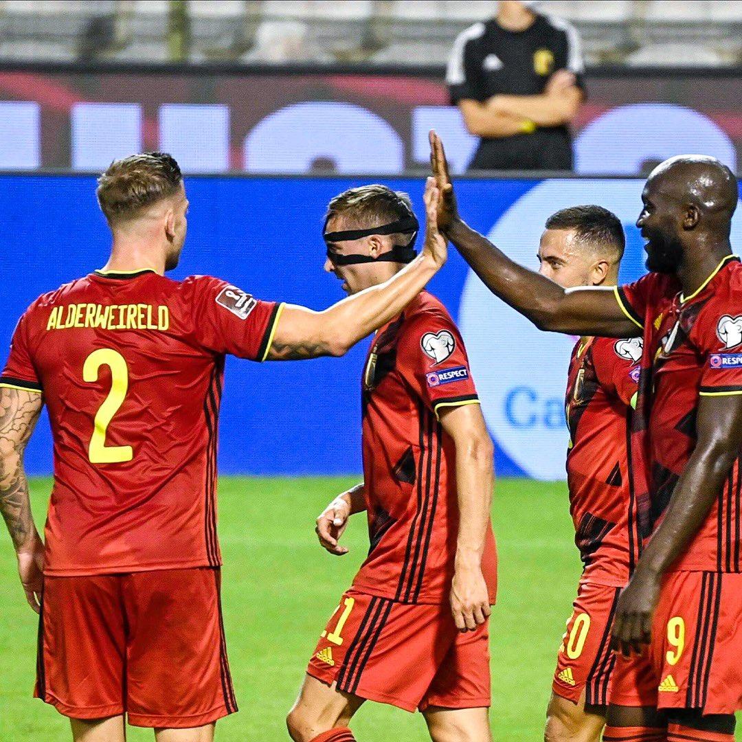 مباراة منتخب بلجيكا وسويسرا في منافسات تصفيات كأس العالم 2022