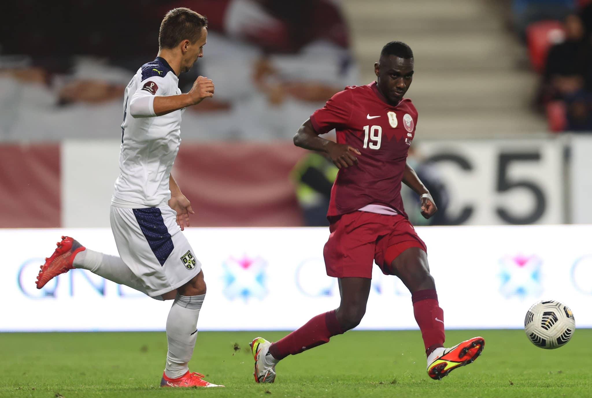 مباراة منتخب قطر وصربيا في تصفيات مونديال العالم 2022