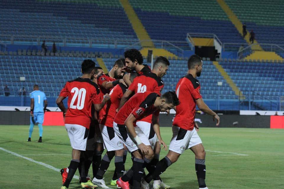 مباراة منتخب مصر والغابون في تصفيات مونديال كأس العالم 2022