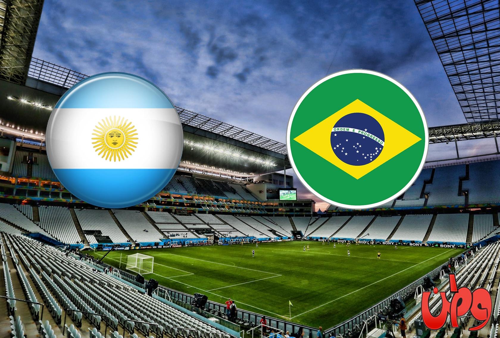 مباراة منتخب البرازيل والأرجنتين في تصفيات مونديال كأس العالم 2022