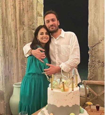 Abu Chakra and her husband