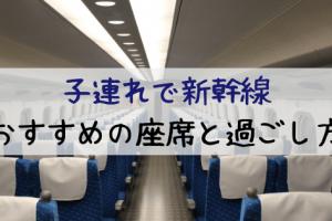 新幹線での幼児との過ごし方 !飽きさせない工夫とお勧めの座席は?