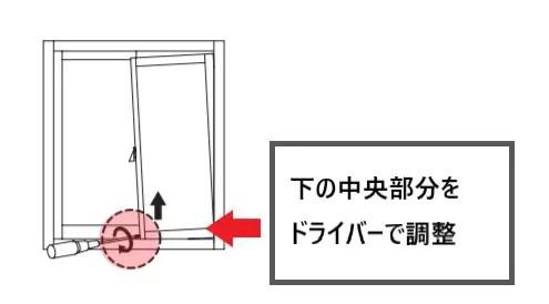 戸車の調整
