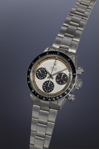 """4-Rolex Oyster Cosmograph, """"Paul Newman Panda"""", 6263, inside caseback stamped 6239, Stainless steel, 1969"""