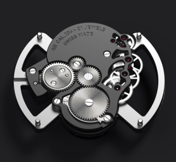 Bell & Ross BR 01 Laughing Skull Mouvement