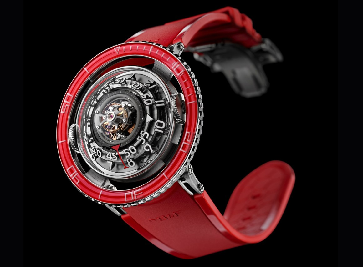 MB&F Aquapod HM7 Platinum Red