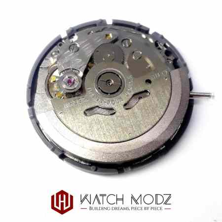 Rear view of sii nh36 automatic movement