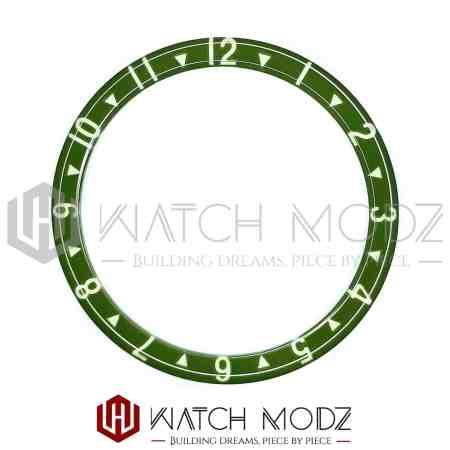 Green Dual Time lumed glass bezel insert for skx007