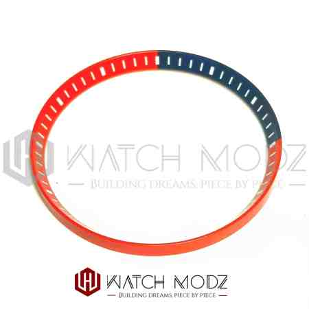Red and blue chapter ring for skx007