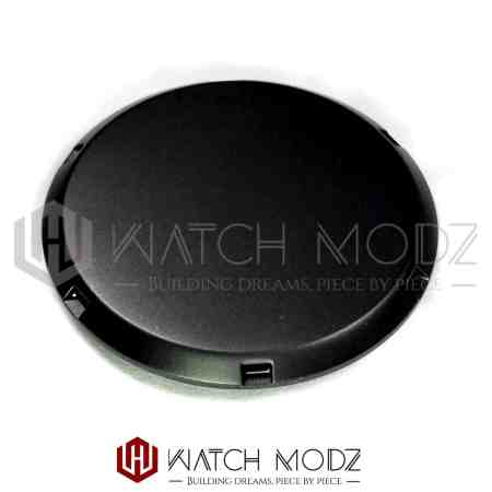 Slim black case back for nh35 and nh36 movement