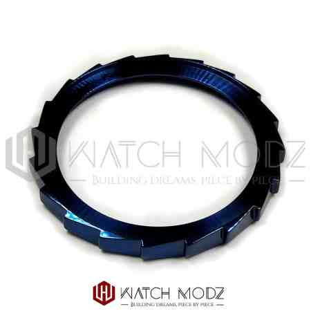 Polished Blue Sawtooth Bezel