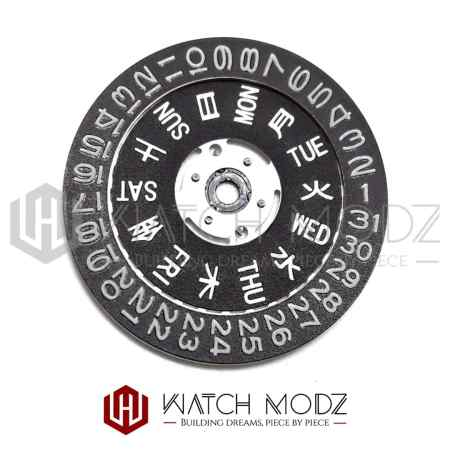 BGW9 Lumed Day & Date Wheel for 3 O'Clock Crown Position