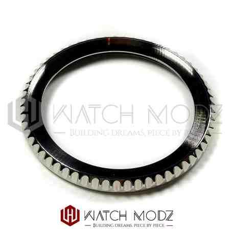 Polished Silver Sub Style Bezel Edge