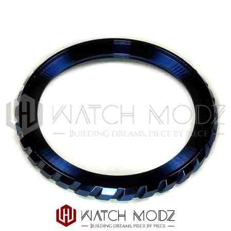 Polished Blue Tire Style Bezel Edge