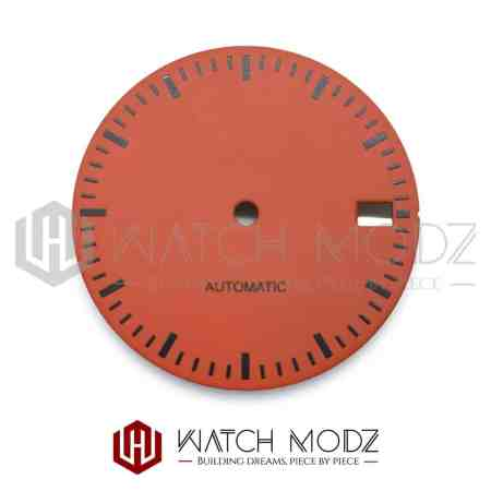 28.5mm Burnt Orange Dial with Black Markers for seiko skx007 mod