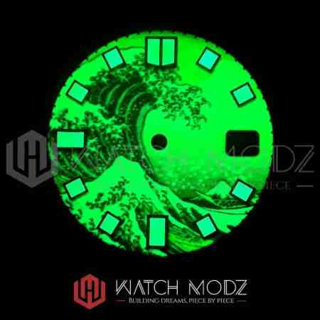 28.5mm Great Wave C3 Full Lume Dial lume shot