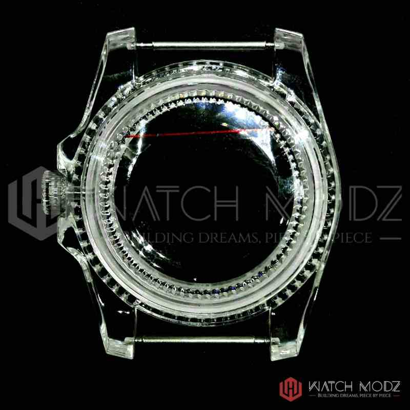 Clear NH35 sub Case for Seiko mods rear view