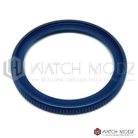 aftermarket seiko skx007 matte blue coin bezel edge