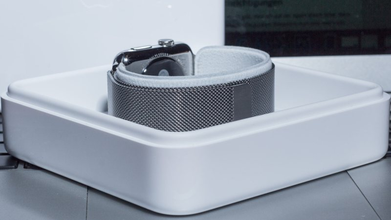Das Malanaise Armband an der Apple Watch 42mm Stainless Steel, Fabian Geissler, Hack4Life