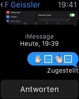 Emojis vor dem Watch OS 1.0.1 Update, Fabian Geissler, Hack4Life