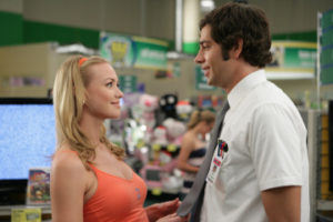"CHUCK -- ""Chuck vs. the Seduction"" episode 202 -- Pictured: (l-r) Yvonne Strahovski as Sarah Walker, Zachary Levi as Chuck Bartowski -- NBC Photo: Adam Taylor"