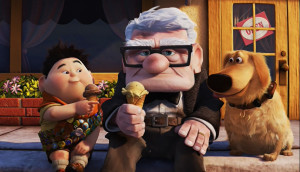 up-2009-movie-review-carl-russell-dug-eating-ice-cream-on-curb-ed-asner