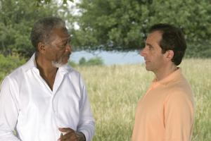 God (MORGAN FREEMAN) explains the meaning of his mission to Evan Baxter (STEVE CARELL) in a comedy of biblical proportions, ?Evan Almighty?.