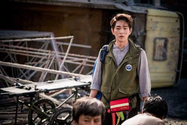 Lee Jin-ki, mint fiatal rezidens az uruki földrengés közben