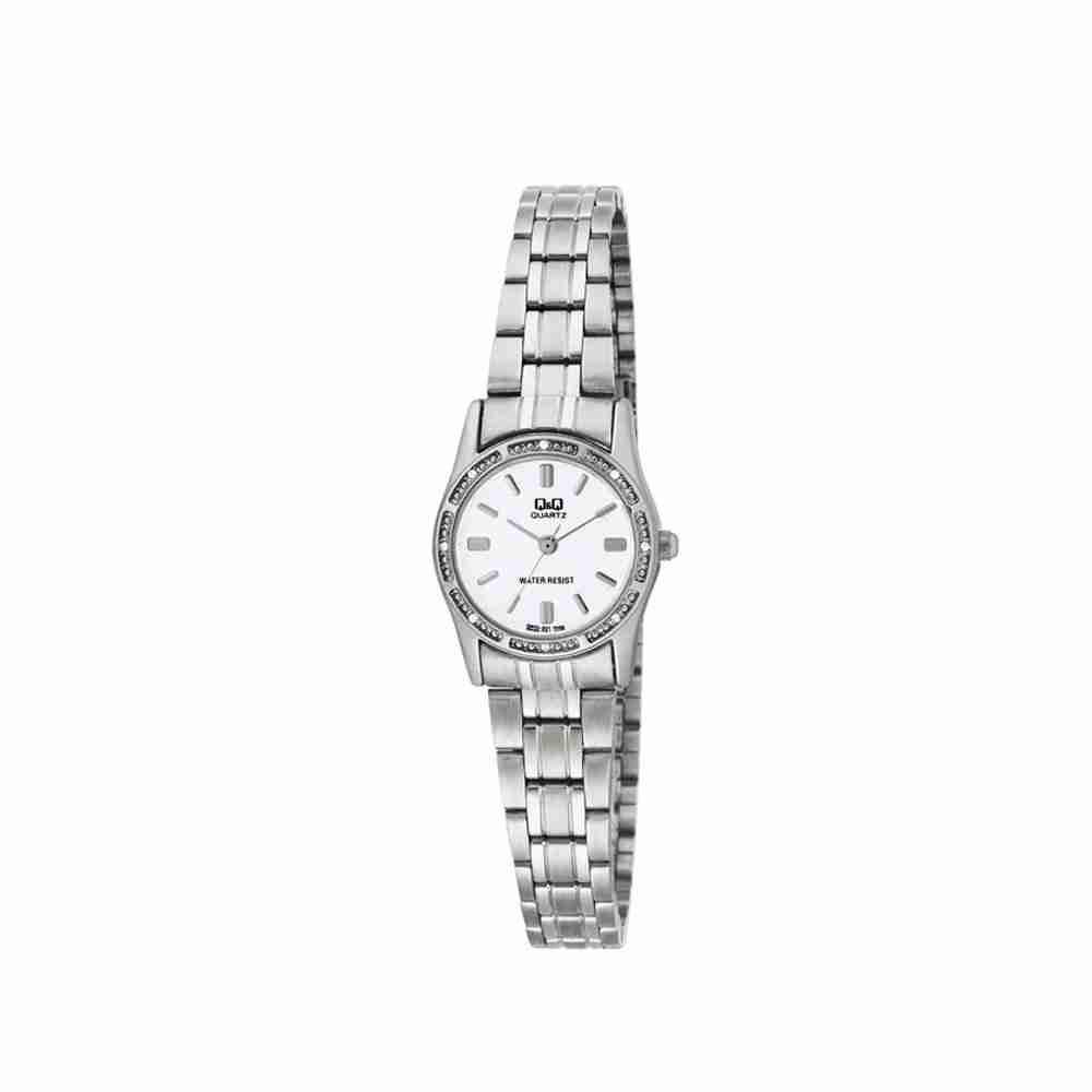 Shop for Q&Q Q695J201 White Dial Ladies Wrist Watch